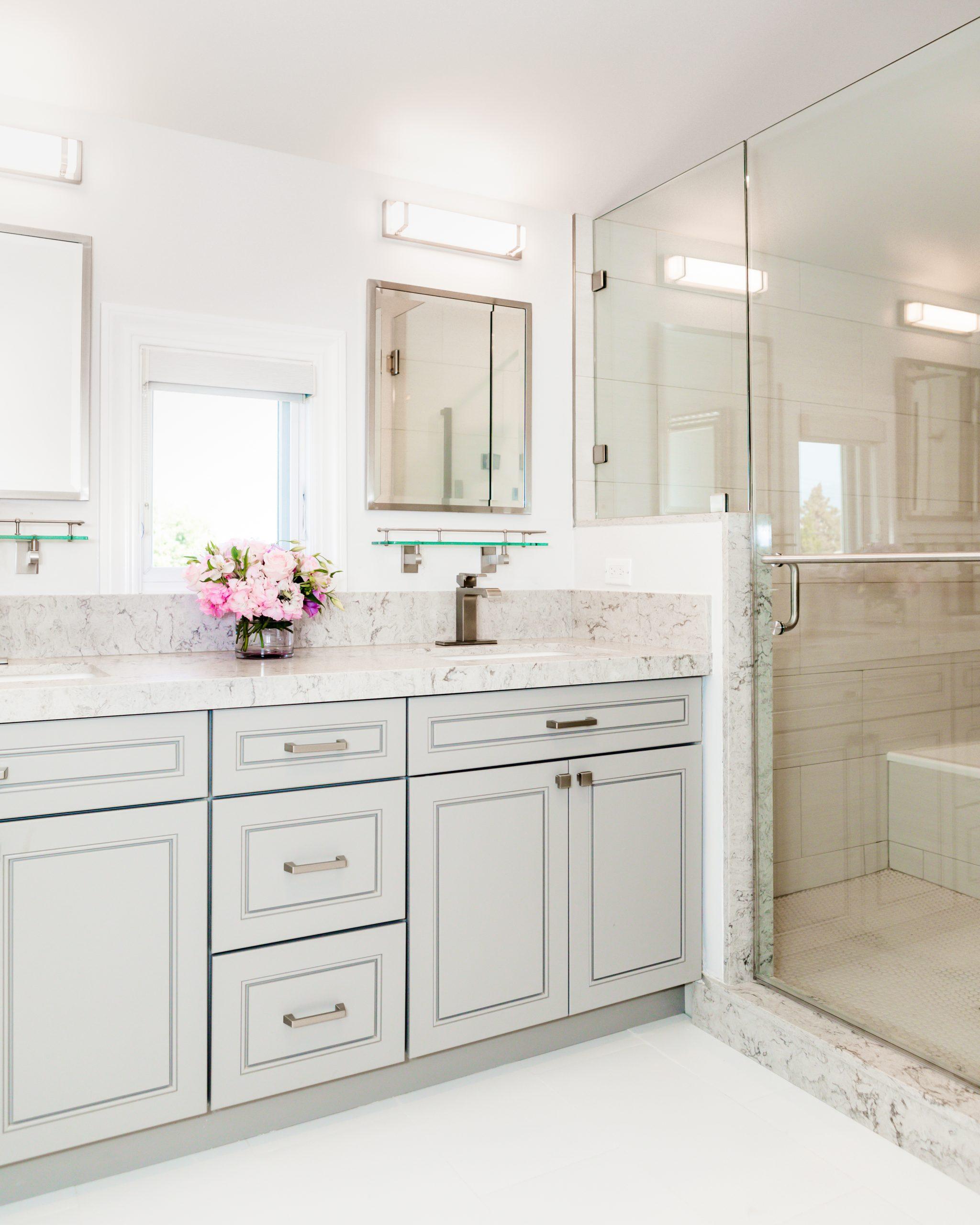 custom bathroom cabinets with double sinks